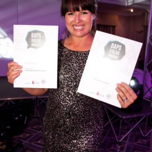 BAPS Awards winner sarah roberts