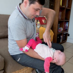 First aid babies and children choking baby receiving chest thrust