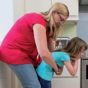 First aid babies and children choking child receiving abdominal thrust