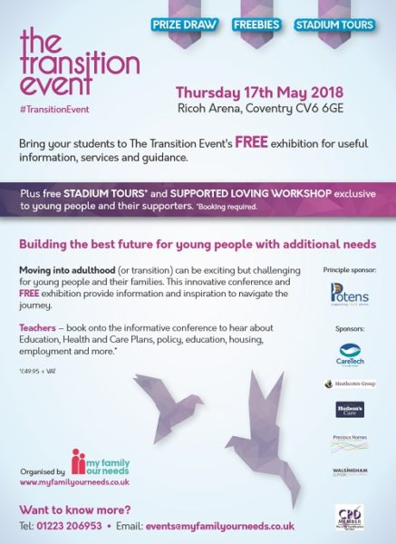 The Transition Event Midlands - Info for schools