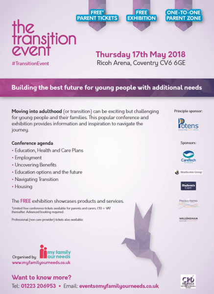 The Transition Event Midlands - information for parents