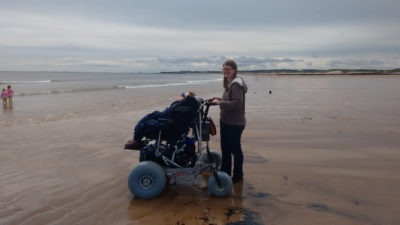 Blyth using the Nomad Desert on the beach