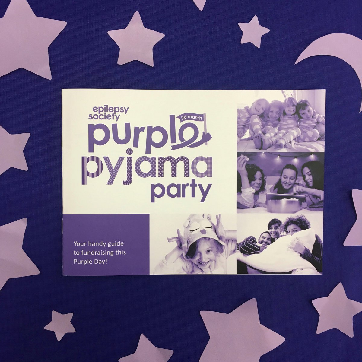 Purple pyjama party 2018 fundraising pack