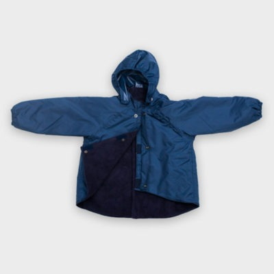Willow Bug Chilldrens navy back fastening jacket