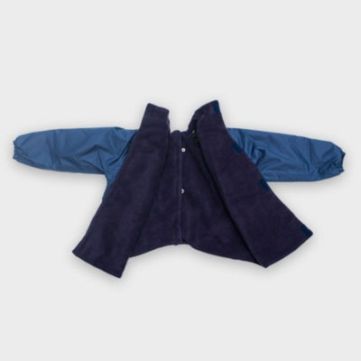 Willow Bug Navy back fastening jacket open