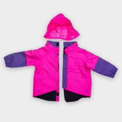 Willow Bug Children's wheelchair clothing pink back fastening jacket