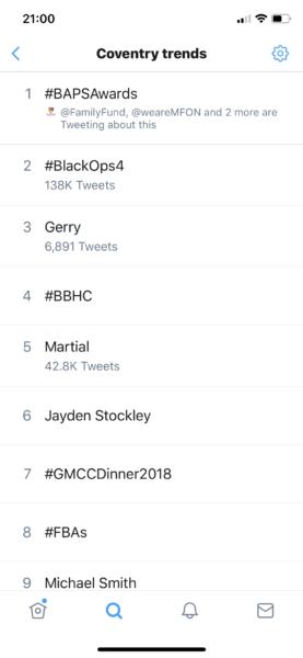 Coventry Trends screenshot - BAPSAwards no.1!