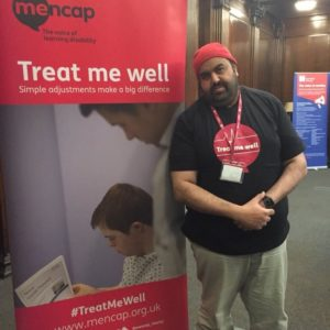 Youssef showing his support for the Treat Me Well campaign