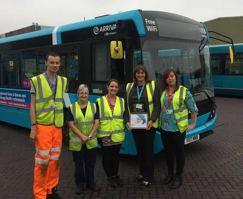 Richard with the team at Arriva Luton
