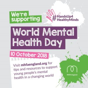 World Mental Health Day 2018 support card