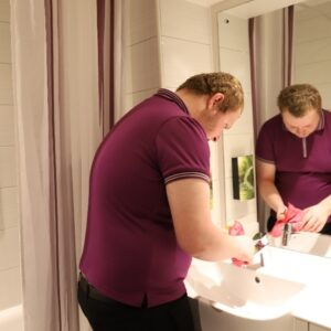 AG at work at premier inn