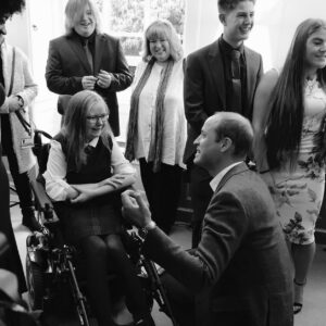 Katie Callaghan meets Prince William