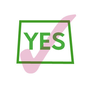 checklist tick box and word yes