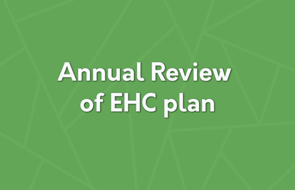annual review of EHC plan