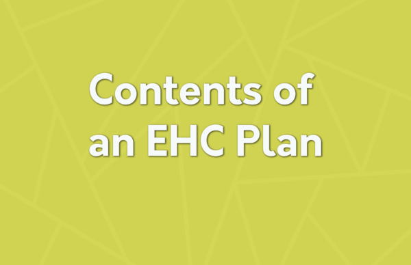 contents of an EHC plan