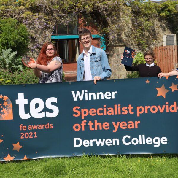TES Award winners Derwen College