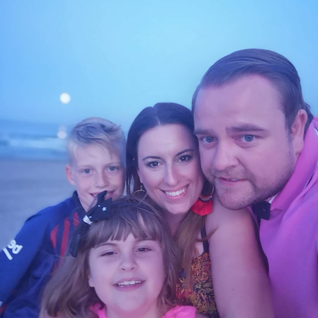 Gemma Bryan and family on their school journey