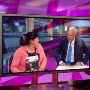 Jon Snow interviews Easy News editor